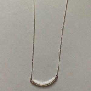 Jewelry - Womens Elegant Silver Diamond Necklace